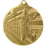 Medal 50 mm, 1st place - gold/volleyball ME008 1