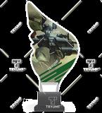 Trofeum z plexy na podwyższeniu - ŻOŁNIERZ CP01/SOL 1