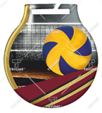 Steel medals with a colour print - Voleyball  MC6001/G-S/VOL 1