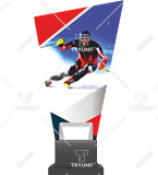 Glass trophy on a plastic base – ski CP02 SKI1 1