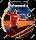 Steel medals with a colour print - Handball  MC6001/G-S/HAN 1