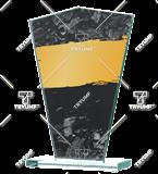 Glastrophäe mit Aufdruck GS113-25/GOR 1