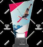 Glass trophy on a plastic base – ski CP02 SKI2 1