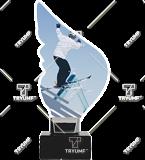 Trophy from plexy on a platform – ski CP01-M/SKI3 1