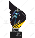 Plexiglass trophy on a plastic base - Ski Jumping CP01-M/SKJ 1