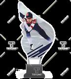 Trofeum z plexy na podwyższeniu - ŁYŻWIARSTWO SZYBKIE KOBIET CP01/SKA3 1