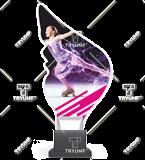 Trofeum z plexy na podwyższeniu - ŁYŻWIARSTWO FIGUROWE CP01/SKA2 1