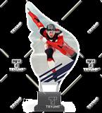 Trophy from plexy on a platform - SPEED SKATING CP01/SKA4 1