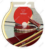 Stahl-Medaillen mit Aufdruck - Tischtennis MC6001/G-S/TAB 1