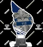 Trophy from plexy on a platform - POLICE CP01/POL 1