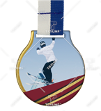Steel medal with ribbon MC61/G/WINTER5 1