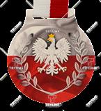 Steel medals with a colour print - Poland eagle MC6001/G-S/POL2. 1