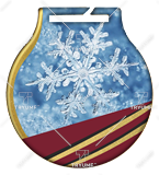 Steel medals with a colour print - Winter snow MC6001/G-S/WIN 1