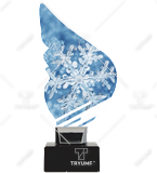Trophy from plexy on a platform – SNOWFLAKE CP01-M/SNO2 1