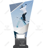 Glass trophy on a plastic base – ski CP02 SKI3 1