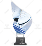 Trophy from plexy on a platform - FIGURE SKATING CP01/SKA1 1