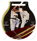 Steel medals with a colour print - Karate  MC6001/G-S/KAR 1